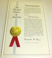 米国特許証 表紙