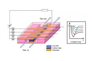 セレンナノワイヤーを用いたガス成分分析センサ
