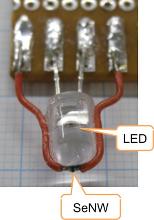 光電流型ガスセンサの一例